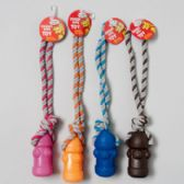 160 Units of Dog Toy Vinyl Fire Hydrant/rope W/squeaker