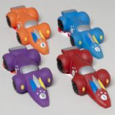 160 Units of Dog Toy Vinyl Race Car With Squeaker