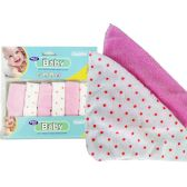 "72 Units of BABY WASH CLOTHS 6PC 7.9""X7.9""3ASST CLR - Baby Beauty& Care Items"