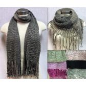24 Units of Dual Purpose Bi-color Knitted Scarves Assorted - Womens Fashion Scarves