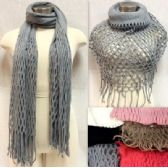 36 Units of Magic Knitted Scarves Infinity Scarf Shawl Assorted - Womens Fashion Scarves