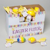 96 Units of Foam Flyer Easter Egg/bunny/ Chick Embossed - Easter