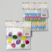 96 Units of Treat Zip Bag And Topper Card - Easter