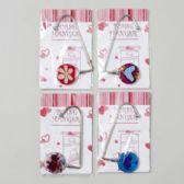 96 Units of Purse Hanger Asst Valentine Designs Metal Gov Val Pb/insert - Hangers