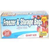 144 Units of 25ct Freezer & Storage - Storage/Garbage Bags