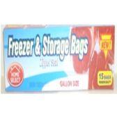 72 Units of Freezer & Storage Bag 15Ct - Storage/Garbage Bags