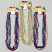 96 Units of Necklace Beaded 6ct Metallic