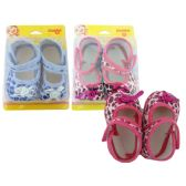 72 Units of Baby Shoe Butterfly Design