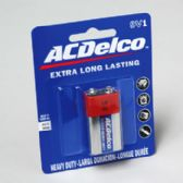 96 Units of Battery Ac Delco 9volt 1pk Heavy Duty On Blister Card