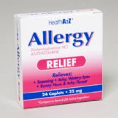 96 Units of Allergy Relief 24 Caplets Diphenhydramine Boxed Compare To Benadryl - Medical Supply