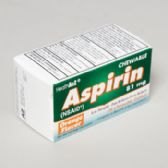 96 Units of Aspirin 36 Ct Chewable Tablets Orange Boxed Compare To Bayer - Pain and Allergy Relief