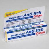 96 Units of Cream Medicated Anti-itch 1oz 5 Panel Color Boxed Budpak - Medical Supply