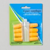 48 Units of Earplug Soft Foam 4pairs W/carry Case/12pc Merchandising Strip Hba Blister Card - Bath And Body