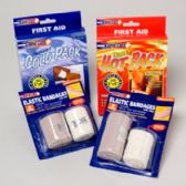 Elastic Bandages Hot Pk And Cold Pk 162 Pc In Floor Display 4 Asst Ct - Bandages and Support Wraps