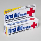 96 Units of First Aid Cream 1 Oz Anti-bacterial 5 Panel Color Boxed Budpak