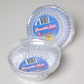 96 Units of Aluminum Pot Pie Pan W/lid 3pk 5 X 1.75 - Kitchen Trays
