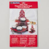 96 Units of Cupcake Stand Treat Tower 8.5x12 Snowflake Design Carded