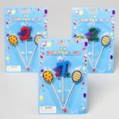 144 Units of Birthday Candles On A Stick 3pc - Birthday Candles