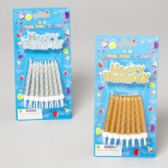 96 Units of Candle Birthday 16ct Gold/silver W/happy Birthday Pick Gov Party Blister Card - Birthday Candles