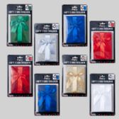144 Units of Gift Card Holder Emboss/glitter W/satin Bow - Bows & Ribbons