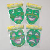 288 Units of Mask Mardi Gras Foam W/glitter 4asst Gov Logo Pbh