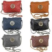 60 Units of QUILTED CROSS BODY BAG WITH CHAIN - Leather Purses and Handbags