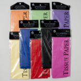 144 Units of Tissue Paper 10ct 8asst Solid Colors 20x20 Shortfold Gov Party Printed Polybag - Gift Wrap