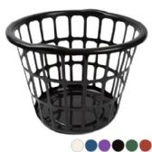24 Units of Laundry Basket 15.5d X 11.25h 6 Colors COLORS: RED, BLUE, GREEN, PURPLE, WHITE, BLACK - Laundry  Supplies