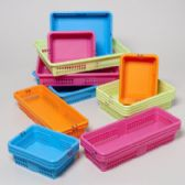 56 Units of Office Basket Display 4 Colors 4 Sizes #8600 COLORS: ORANGE, BLUE, GREEN, PINK