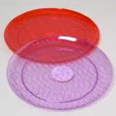 96 Units of Serving Tray Crystal 14in Round 6 Colors In White - Serving Trays
