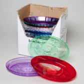 96 Units of Serving Tray Oval Plastic 6 CoLORS - Serving Trays
