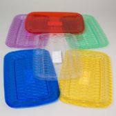 96 Units of Serving Tray Rectangular 6 Colors In White Pdq - Serving Trays