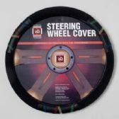 20 Units of STEERING WHEEL COVER BLACK W/ASST COLOR STITCHING PEGGABLE CARBOARD INSERT