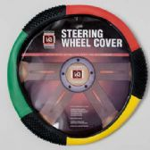 20 Units of STEERING WHEEL COVER RED/GREEN/YELLOW ON PEGGABLE CARDBOARD INSERT