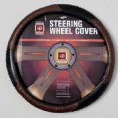 20 Units of STEERING WHEEL COVER ALLIGATOR BROWN ON PEGGABLE CARDBOARD INSERT