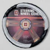 20 Units of STEERING WHEEL COVER BLACK/LT. GREY ON PEGGABLE CARDBOARD INSERT