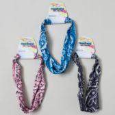144 Units of Printed Elastic Bandana Headband 3asst Colors