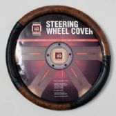 20 Units of STEERING WHEEL COVER WOOD LOOK/BLK ON PEGGABLE CARDBOARD INSERT