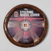 20 Units of STEERING WHEEL COVER WOOD LOOK ON PEGGABLE CARDBOARD INSERT