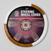 20 Units of STEERING WHEEL COVER CREAM/LT.  WOOD LOOK ON PEGGABLE CARDBOARD INSERT