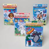 144 Units of Animal Magnetic Dress-up Game - Dominoes & Chess