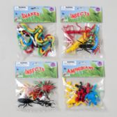 96 Units of Bugs/reptiles Plastic 8ct/8ast Mix & Match Bug/reptiles - Animals & Reptiles