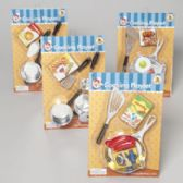 96 Units of Cooking Playset 5-6pc Plated Pans/tools W/boxed Food Blister Card - Cars, Planes, Trains & Bikes