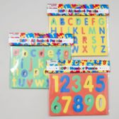 48 Units of Foam Puzzle Alphabet & Numbers 3ast Styles - Dictionary & Educational Books