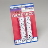 144 Units of Game Dice 10pk White - Playing Cards, Dice & Poker