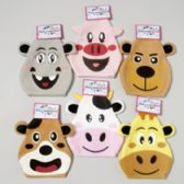 96 Units of Hand Puppet Felt 6asst Animal Faces - Animals & Reptiles