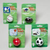 144 Units of Magic Towel Sport Ball Shapes 4asst