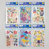 144 Units of Sticker Foam Diy Dress-up 6asst Designs - Stickers