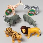 96 Units of Wild Animal Figure 6asst Styles - Animals & Reptiles