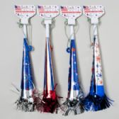96 Units of Patriotic Horn On A Chain 4asst Designs Patriotic Barbell - Seasonal Items